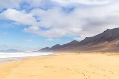 Clouds over Playa de Cofete and Montaña Aguda on Fuerteventura, Canary Islands