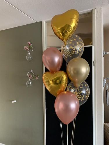 Ballonboeket Liefde Goud