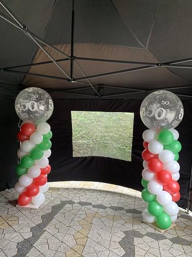 Ballonpilaar Breed Rond Italiaanse Vlag Italie Verjaardag 50 Jaar Abraham Sarah