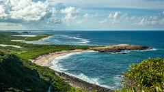Vue sur la petite Bretagne des Antilles