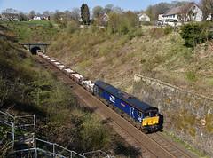 Photo of 66301 6K05 Carlisle-Crewe engineers, Wilpshire 19.04.2021