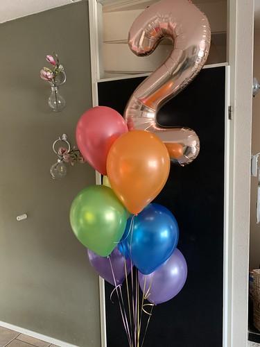 Ballonboeket Regenboog Verjaardag 2 Jaar