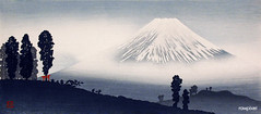 Mount Fuji (ca.1932) print in high resolution by Hiroaki Takahashi. Original from The Los Angeles County Museum of Art. Digitally enhanced by rawpixel.