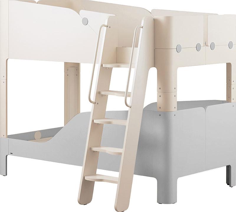 【產品圖】TINKLE-POP雙層床架組(爬梯型)_「曙光灰」新色-定價:NT$64,900