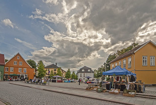 The square in Drøbak, Norway.