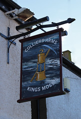 Photo of English Pub Sign - The Colliers Arms, Kings Moss, St