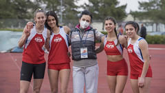 Sonia Gattari, Sofia Gentilucci, Anna Mengarelli, Giulia Olimpi con Carla Luciani
