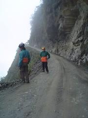 Ravine on world's most dangerous road
