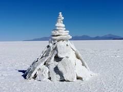 Salt pile, Salar de Uyuni
