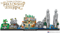 """LEGO """"The Fellowship of the Ring"""" Skyline (Lite)"""