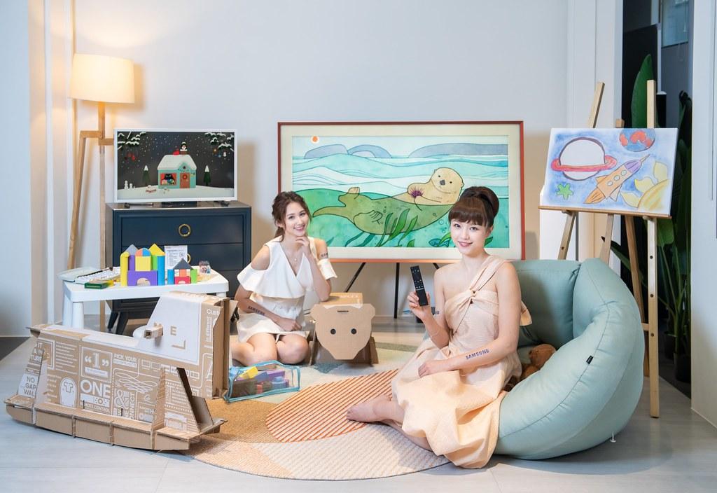 【新聞照片3】The Frame美學電視提供多元尺寸選擇,環保包裝紙箱巧手改造家飾品,響應環境永續