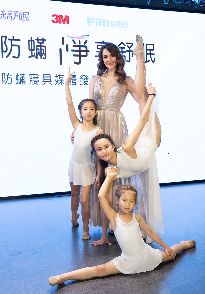 3M防蟎寢具代言人瑞莎率領瑞星韻律體操帶來精采體操秀 (3M提供)