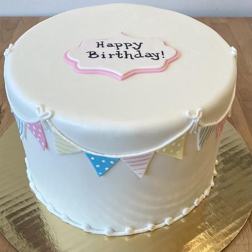 Triangle Banner Designer Cake