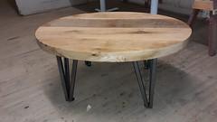 Oval oak table Mar 2021