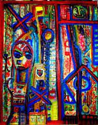 אמנית מופשט ציור  אבסטרקט  שרה זלוטי היוצרת הישראלית האמנית העכשווית הציירת המודרנית