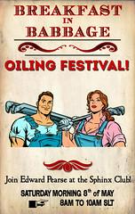 Breakfast in Babbage: Oiling Festival!