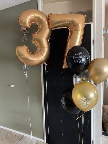 Ballonboeket Verjaardag 37 Jaar