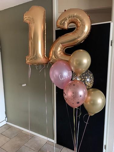 Ballonboeket Verjaardag 12 Jaar