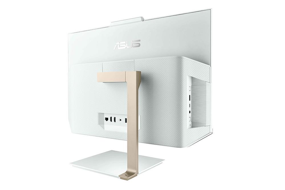 ASUS-Zen-AiO-24-(A5401)採偏心金屬支架設計,並具備HDMI、USB-Type-A、音訊孔等完整連接埠,支援外接顯示器。
