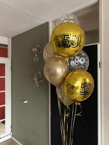 Ballonboeket 50 Jaar Getrouwd