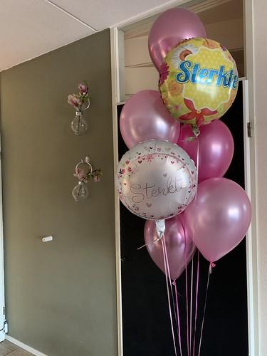 Ballonboeket Roze Beterschap Sterkte