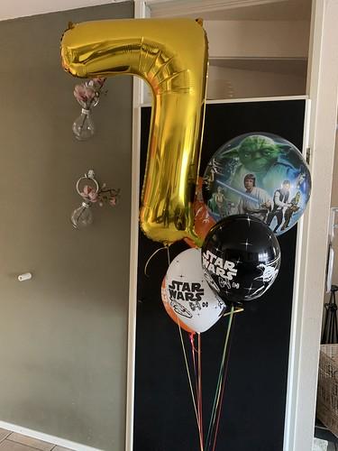 Ballonboeket Star Wars Verjaardag 7 Jaar