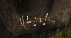 Preparing Beltane Altar at Rosehaven Stone Circle