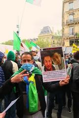 Manifestation des travailleuses.eurs. 1er mai 2021. Paris. Hirak, Algérie en souffrance