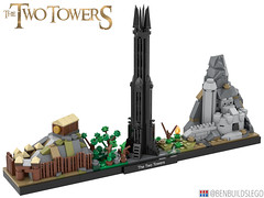 """LEGO """"The Two Towers"""" Skyline (Lite) [2]"""