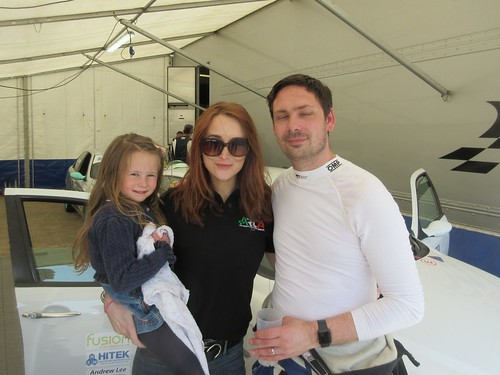 James Ford and family after a great race 1 win