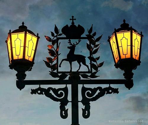 Lantern Nizhny Novgorod in the clouds