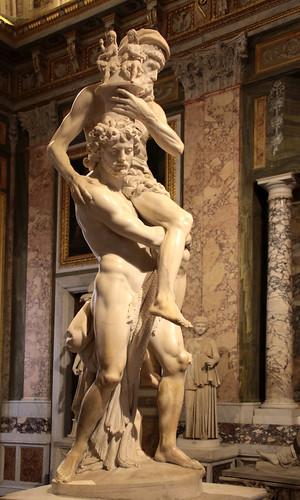 Gian Lorenzo Bernini (Napoli, 7 dicembre 1598 – Roma, 28 novembre 1680) - Enea, Anchise e Ascanio in fuga da Troia in fiamme (1619) - scultura in marmo altezza cm. 220 - Galleria Borghese, Roma