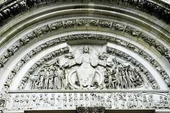 Vézélay Kathedrale Eingang Burgund Frankreich