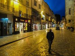 Altstadt Narbonne Südfrankreich Blaue Stunde