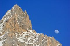 Dent de Burgin Méribel mit Mond