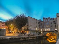 Altstadt Narbonne Südfrankreich Blaue Stunde II
