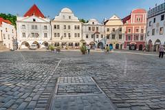 Český Krumlov Krumau  Marktplatz Altstadt