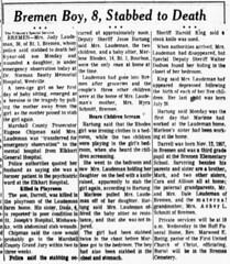 1966 - Judith Laudeman kills son - South Bend Tribune - 6 Sep 1966