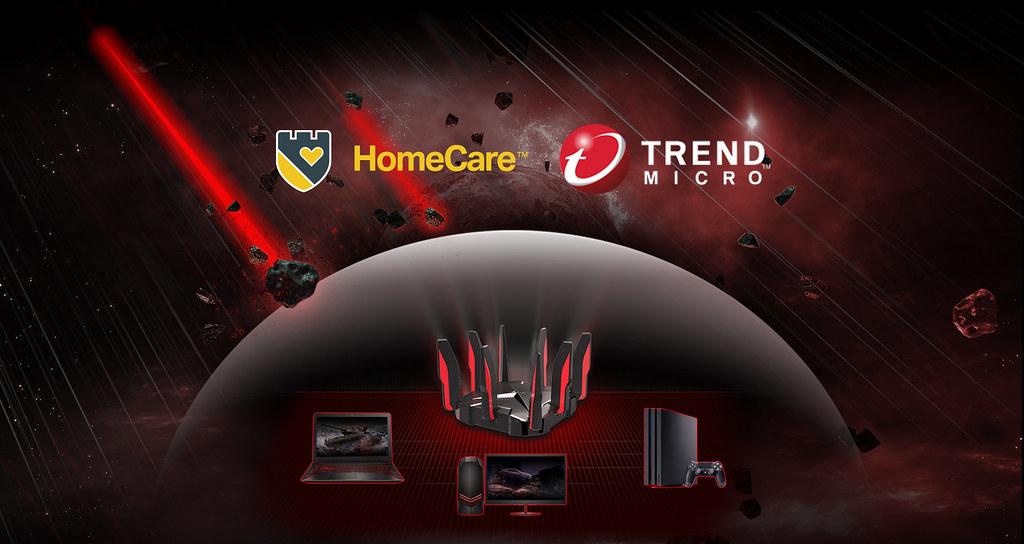 圖四:Archer GX90搭載與趨勢科技攜手打造的HomeCare遊戲防護技術,保障遊戲資料與帳號密碼安全。