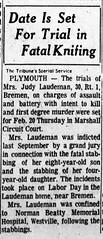 1967 - Judith Laudeman trial - South Bend Tribune - 20 Jan 1967
