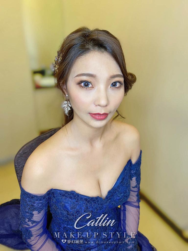 【新秘Catlin】bride 慶婷 訂結婚造型 / 龍鳳掛,優雅公主