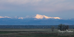 May 2, 2021 - Mount Meeker and Longs Peak lit up. (Tony's Takes)