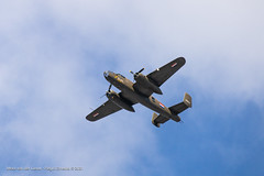 A B-25 above the city of Haarlem. / The Netherlands