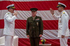 U.S. Naval Forces Central Command (NAVCENT), U.S. 5th Fleet and Combined Maritime Forces (CMF) holds a change of command at Naval Support Activity Bahrain.