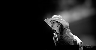 The girl with a hat
