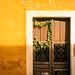 Yellow memory door