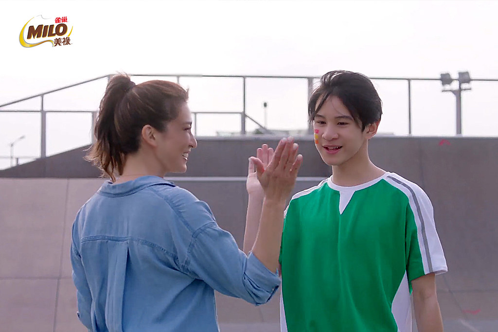 3.雀巢美祿代言人李詠嫻支持兒子Ryder選擇自己喜歡的運動,鼓勵多玩、多嘗試。