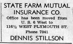 1954 - Dennis Stillson insurance - Enquirer - 5 Aug 1954