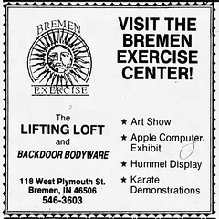 1985 - Bremen Exercise Center - South Bend Tribune - 3 Oct 1985