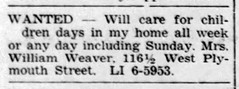 1960 - William Weaver apt - Enquirer - 3 Mar 1960